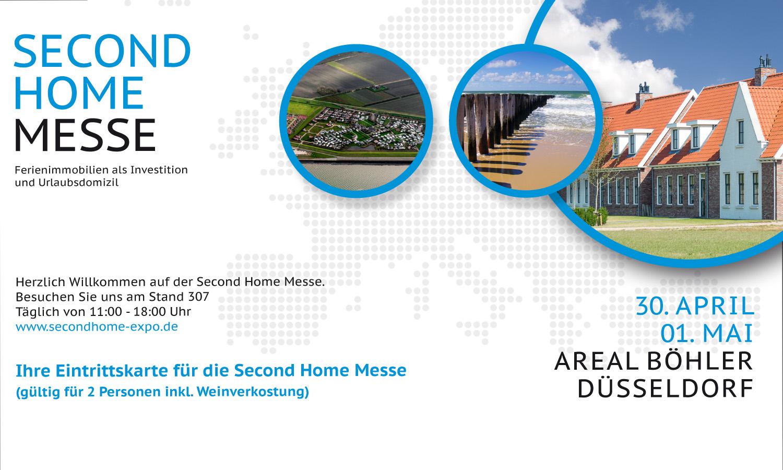 Am 30. April und 1. Mai findet in Düsseldorf die Second Home Messe zu Ferienimmobilien statt.